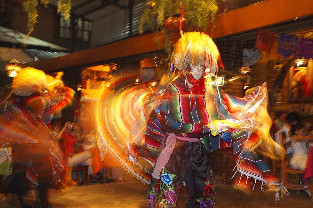 Parachicos Dance Performance At Las Pichanchas Restaurant, Tuxtla Gutierrez, Chiapas, Mexico