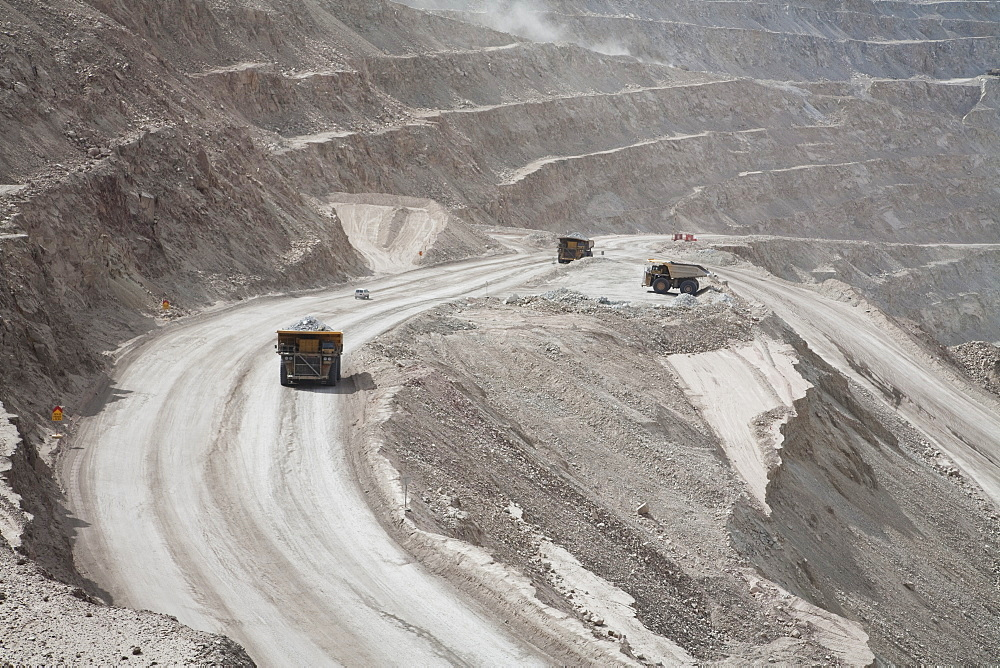 Giant Truck Laden With Ore At Chuquicamata, The Largest Open Pit Copper Mine In The World, Antofagasta Region, Chile