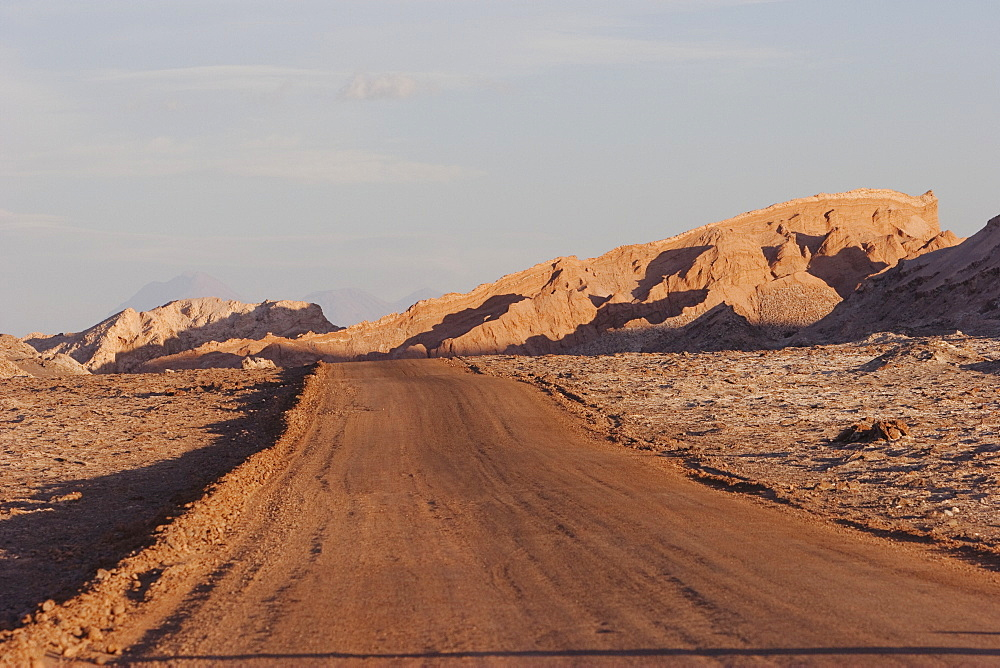 Road In The Moon Valley, San Pedro De Atacama, Antofagasta Region, Chile