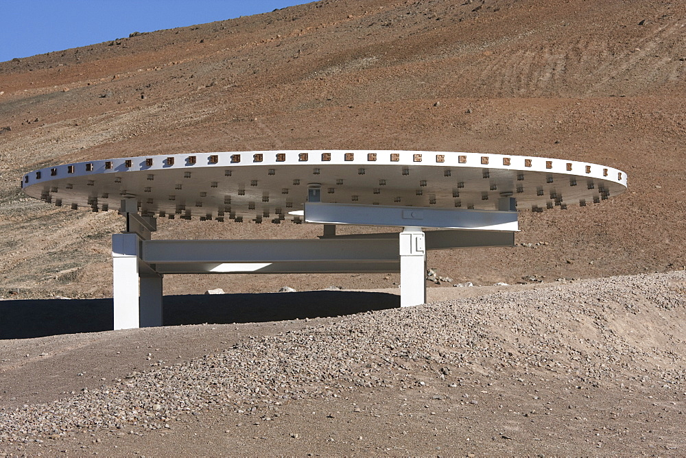 Giant Mirror By The Former Visitors Centre Of The European Southern Observatory At Paranal, Antofagasta Region, Chile