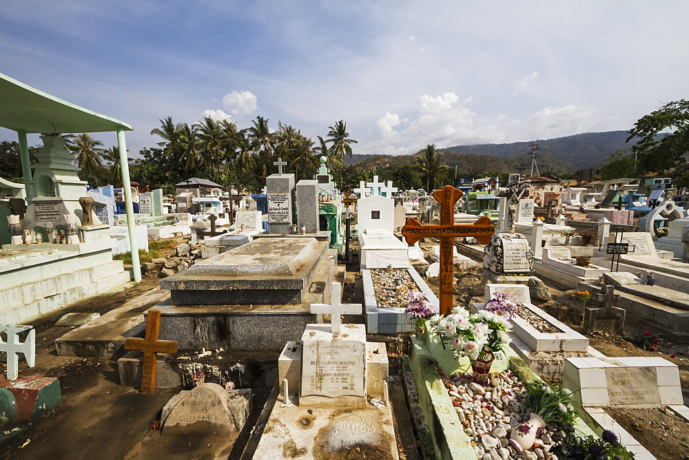 Tombs in the Santa Cruz Cemetery, Dili, East Timor