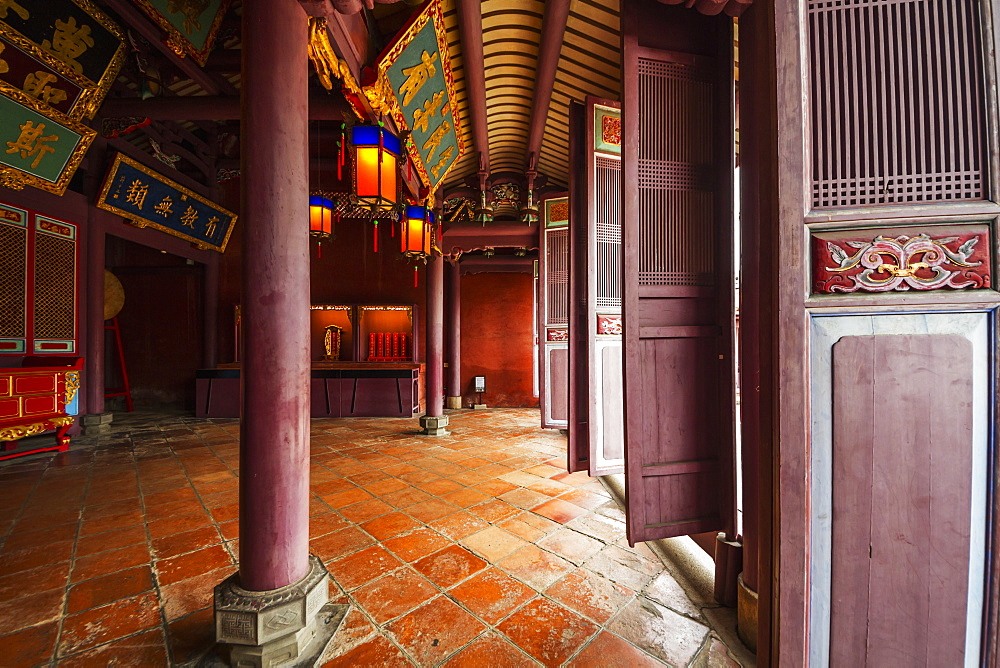Main hall of the Taiwan Confucian Temple, Tainan, Taiwan