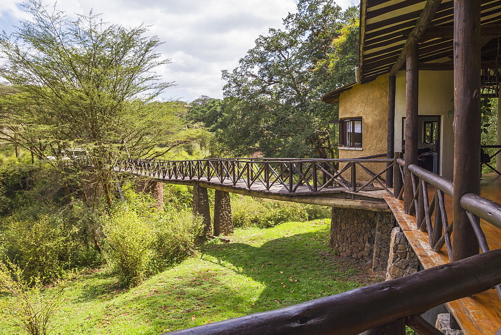Footbridge to the Emakoko lodge, Uhuru Gardens, Nairobi, Kenya
