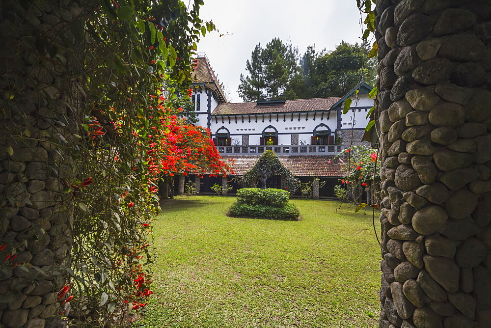 Gardens of the Ullen Sentalu Museum, Central Java, Indonesia