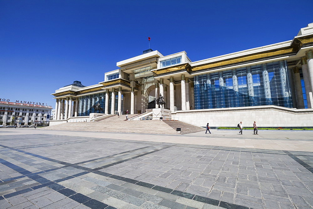 Government Palace on Sukhbaatar Square, Ulaanbaatar (Ulan Bator), Mongolia