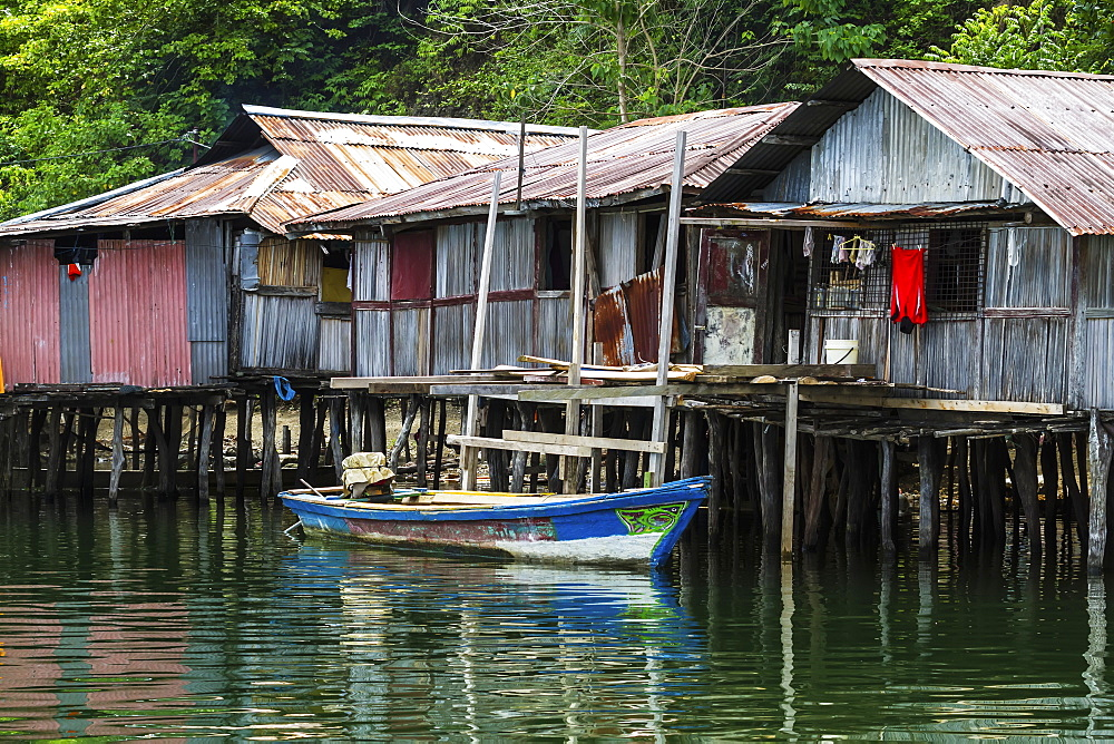 Stilt houses in Kampung Ayapo, Lake Sentani, Papua, Indonesia