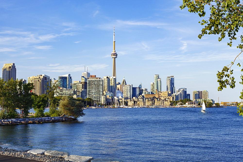 City of Toronto skyline from Trillium Park, Toronto, Ontario, Canada