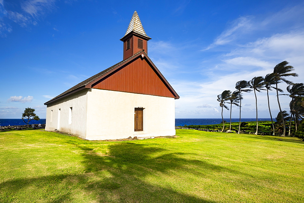 Huialoha Church, established in 1859, Kaupo, Maui, Hawaii, United States of America