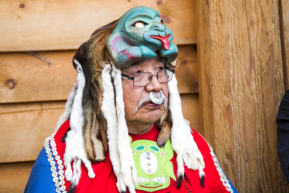 Man at the Tlingit Celebration, Teslin, Yukon, Canada