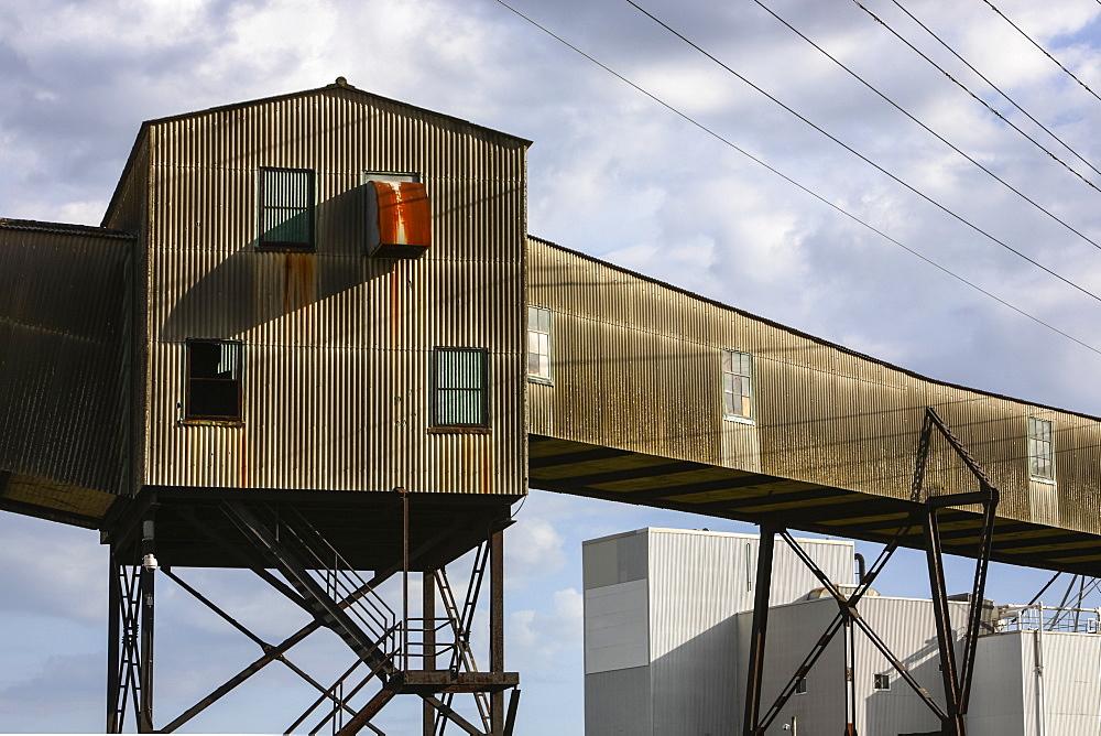 Grain elevator in Halifax harbour, Halifax, Nova Scotia, Canada