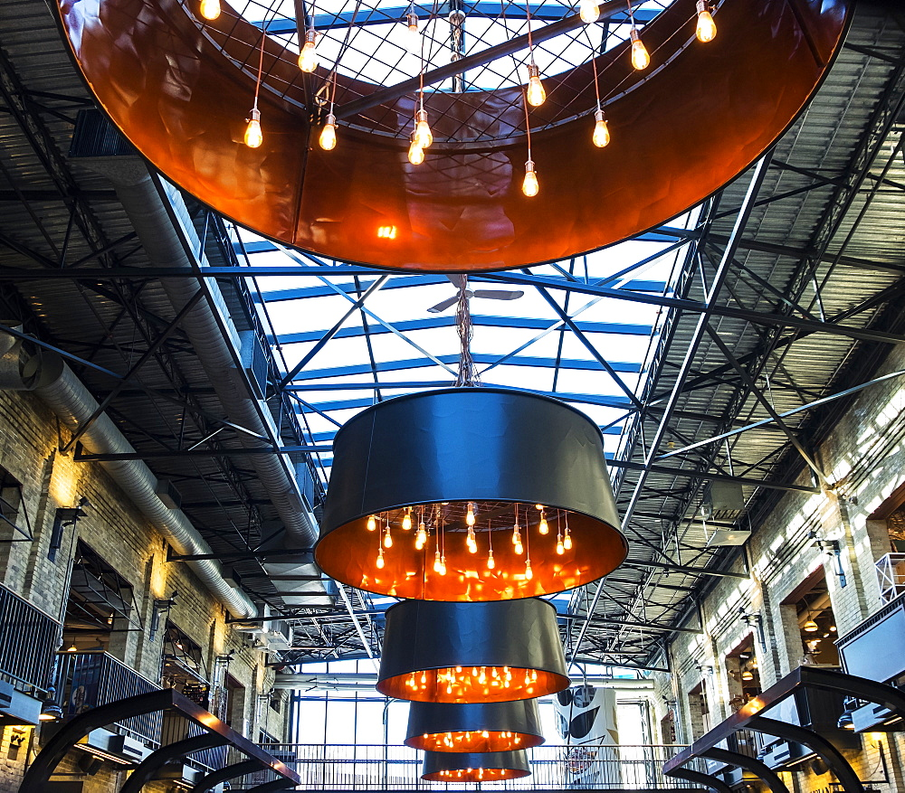 Interior of the Forks Marketplace, Winnipeg, Manitoba, Canada