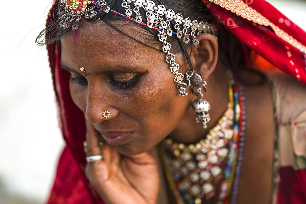Portrait of a Hindu Indian woman, Jaisalmer, Rajasthan, India
