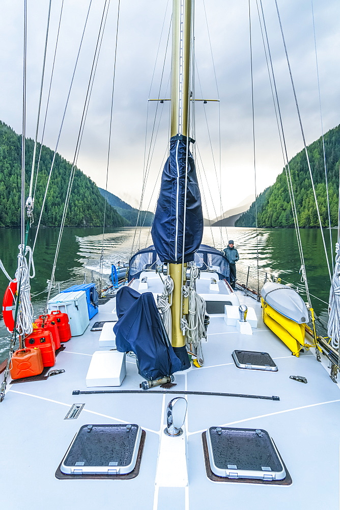 Sailing in the Great Bear Rainforest, Hartley Bay, British Columbia, Canada