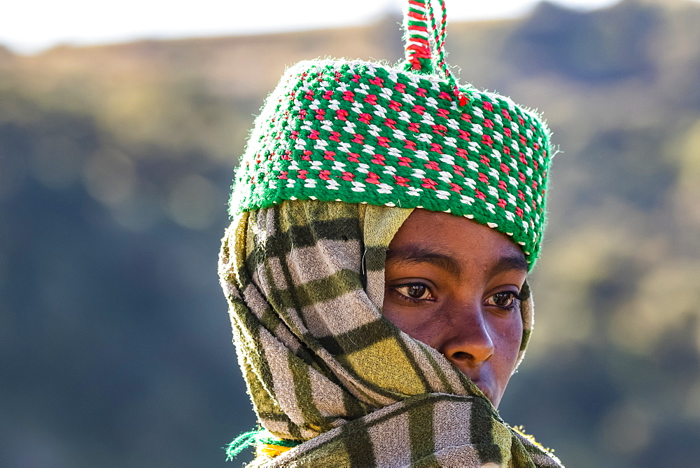 Ethiopian woman, Simien National Park,, Amhara Region, Ethiopia