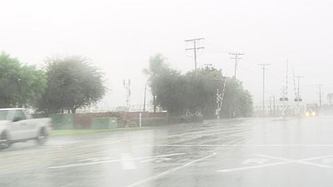 Heavy Downpoor in irvine, Southern California, United States of America