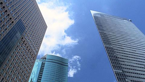 High Rising Buildings of Shiodome Time Lapse, Tokyo, Japan