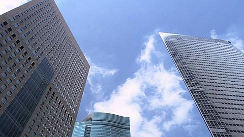 High Rising Buildings of Shiodome Time Lapse