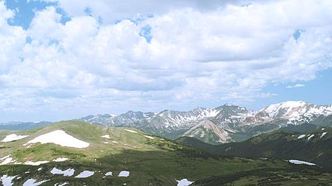 On Top of the Rocky Mountain National Park Mountain Range at 14000 feet, Colorado, United States of America