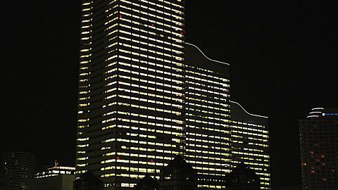 Office Buildings Light-up in Minato Mirai 21, Yokohama, Japan
