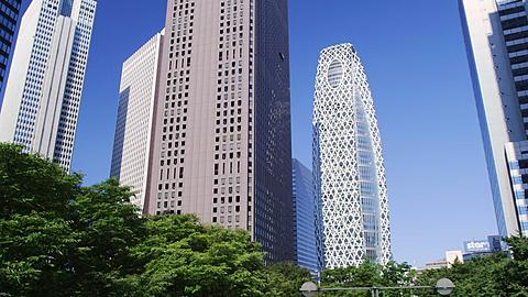 High Rising Buildings of Shinjuku West with the Mode Gakuen Coccon Tower