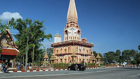 The Phramahathat Chedi (Great Relic Stupa) at Wat Chalong, Phuket, Thailand
