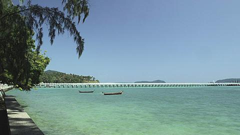 Rawai Beach with Rawai Landing Pier, Phuket, Thailand