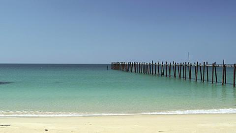 Deserted Jetty on Beach in Phang Nga