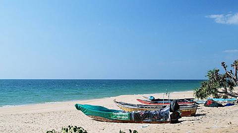 Fishing Boats at a deserted Beach in Phang Nga