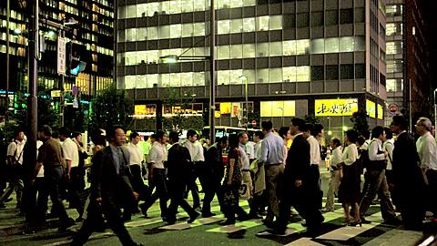 High Rising Buildings and Pedestrian crossing in the Akihabara Electronic District