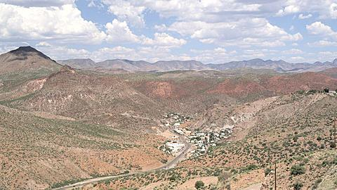 Birds Eye View of Clinton Town along Hiway 191, Arizona, United States of America