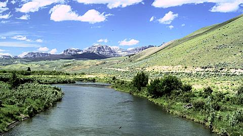 Scenery of Wyoming with the Wind River, Wyoming, United States of America