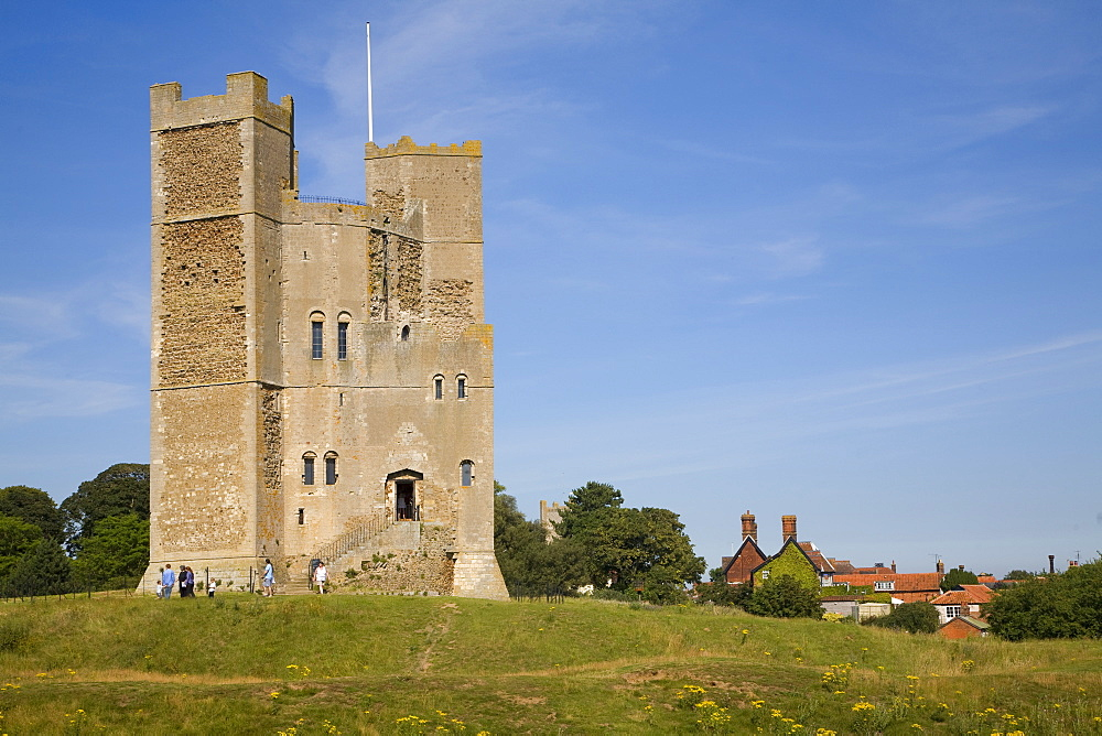 Unique polygonal tower keep of Orford Castle built by Henry II, Orford, Suffolk, England, United Kingdom, Europe - 1121-11