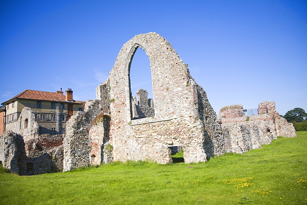 Ruins of Leiston Abbey, Leiston, Suffolk, England, United Kingdom, Europe - 1121-4