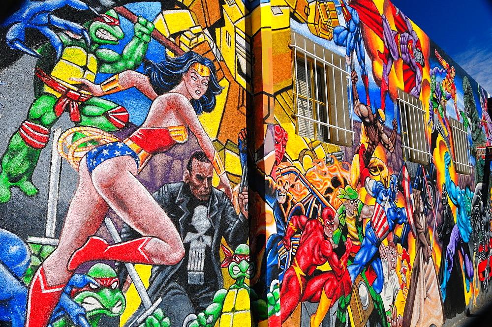 Graffiti on the walls, Albuquerque, New Mexico, United States of America, North America