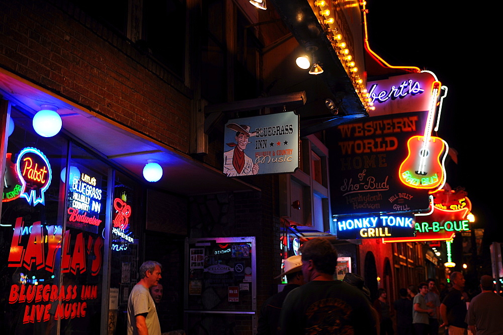 Honky Tonk area of Nashville music city, Tennessee, United States of America, North America