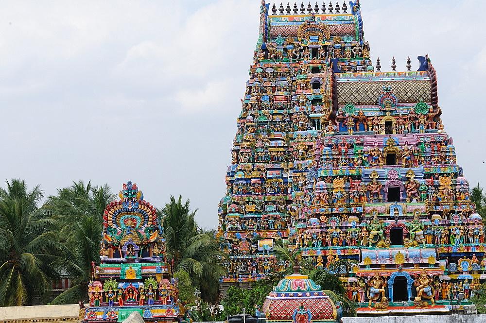 Manargudi temple gopuram, Manargudi, Tamil Nadu, India, Asia - 1125-90