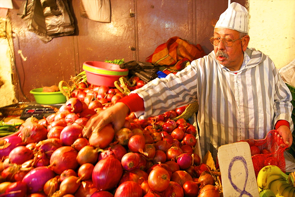 Fruit Stall, Medina, Fez, Morocco, North Africa, Africa