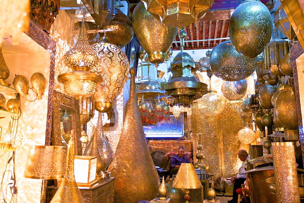 Brass Shop, Medina, Fez, Morocco, North Africa, Africa