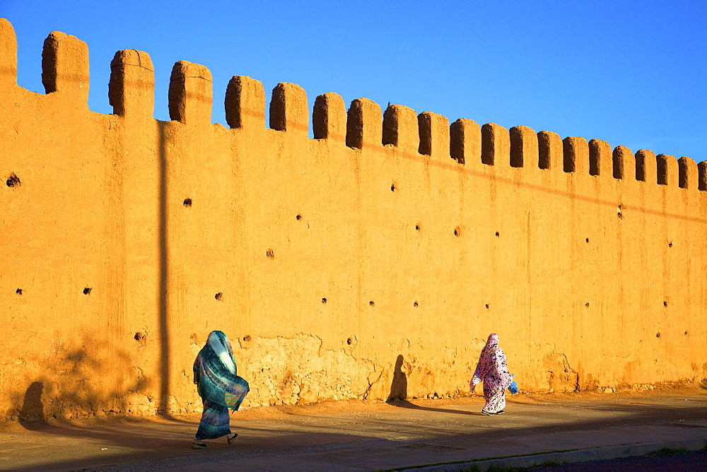 Old City walls, Tiznit, Morocco, North Africa, Africa