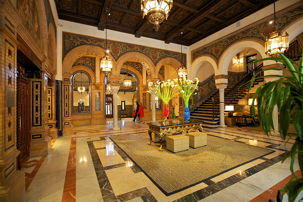 Hotel Alfonso Xlll, Seville, Andalucia, Spain, Europe