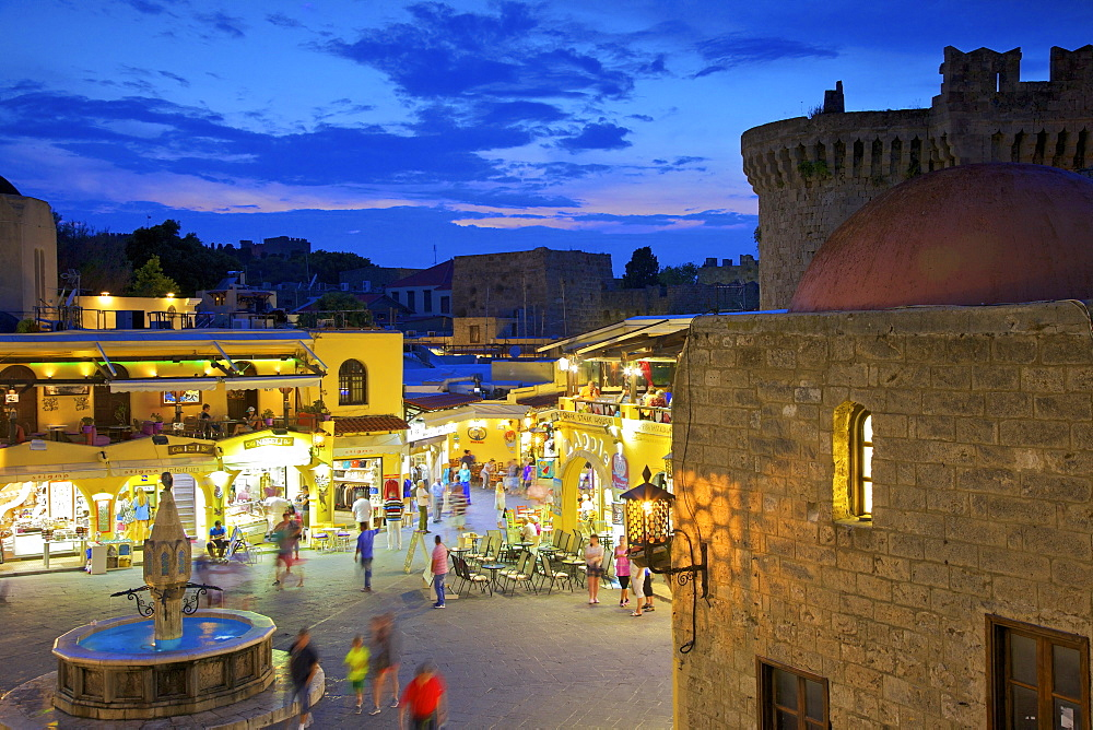Hippocrates Square, Rhodes, Dodecanese, Greek Islands, Greece, Europe