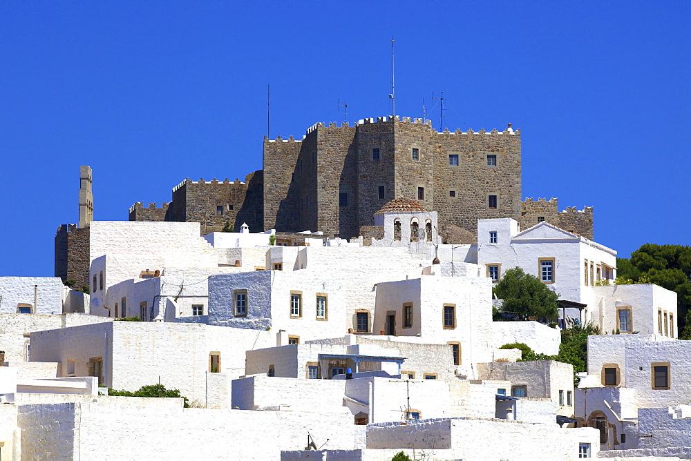 Monastery of St. John at Chora, UNESCO World Heritage Site, Patmos, Dodecanese, Greek Islands, Greece, Europe