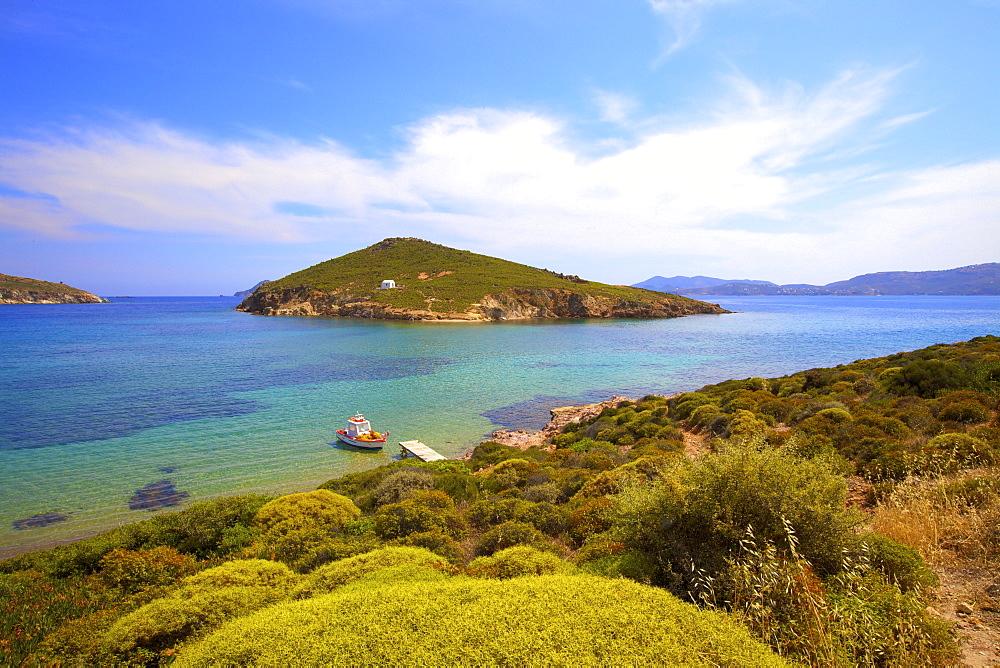 Livadi Beach, Patmos, Dodecanese, Greek Islands, Greece, Europe