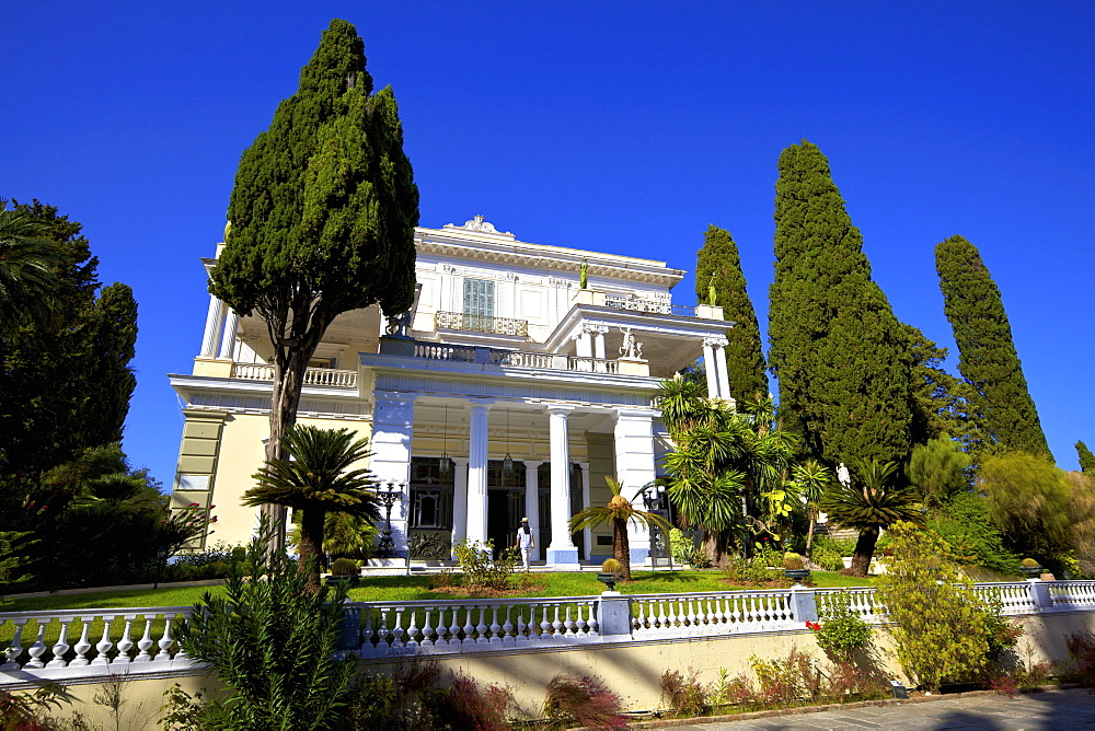 Achilleion Palace, Corfu, The Ionian Islands, Greek Islands, Greece, Europe