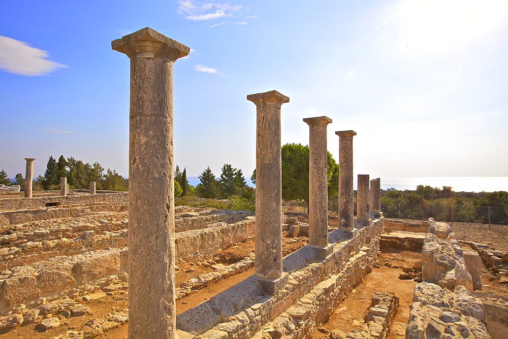 Sanctuary of Apollo Yiatis, Kourion, UNESCO World Heritage Site, Cyprus, Eastern Mediterranean, Europe