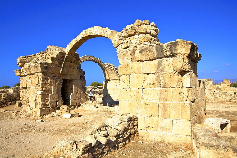 Saranda Kolones, Kato Paphos Archaeological Park, UNESCO World Heritage Site, Paphos, Cyprus, Eastern Mediterranean, Europe