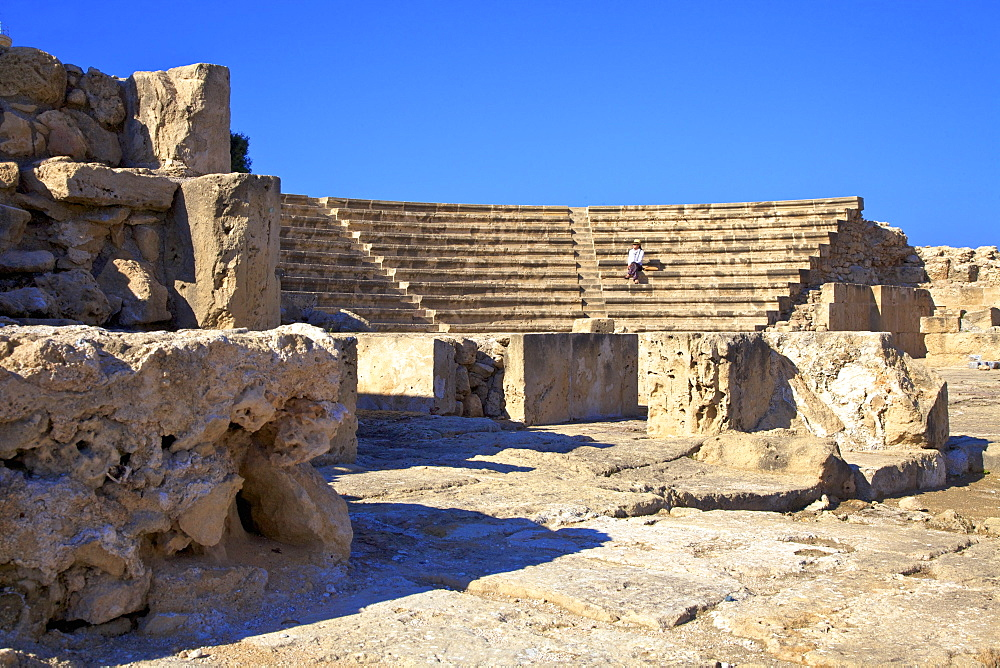 Roman Odeon, Kato Paphos Archaeological Park, UNESCO World Heritage Site, Paphos, Cyprus, Eastern Mediterranean, Europe