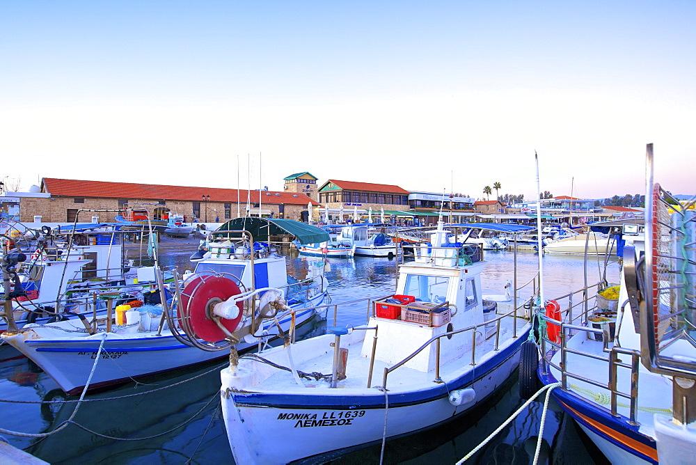 Paphos Harbour, Paphos, Cyprus, Eastern Mediterranean Sea, Europe