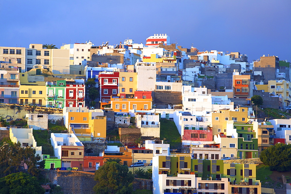 Colourful Buildings in the San Juan District, Las Palmas de Gran Canaria, Gran Canaria, Canary Islands, Spain, Atlantic, Europe