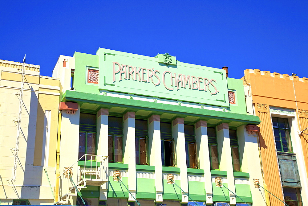 Parkers Chambers Art Deco Building, Napier, Hawkes Bay, New Zealand, South West Pacific Ocean - 1126-1611